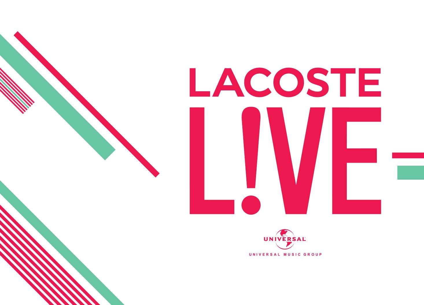 Lacoste L!VE x Universal Music- Hatch Design - Digital Creative Agency