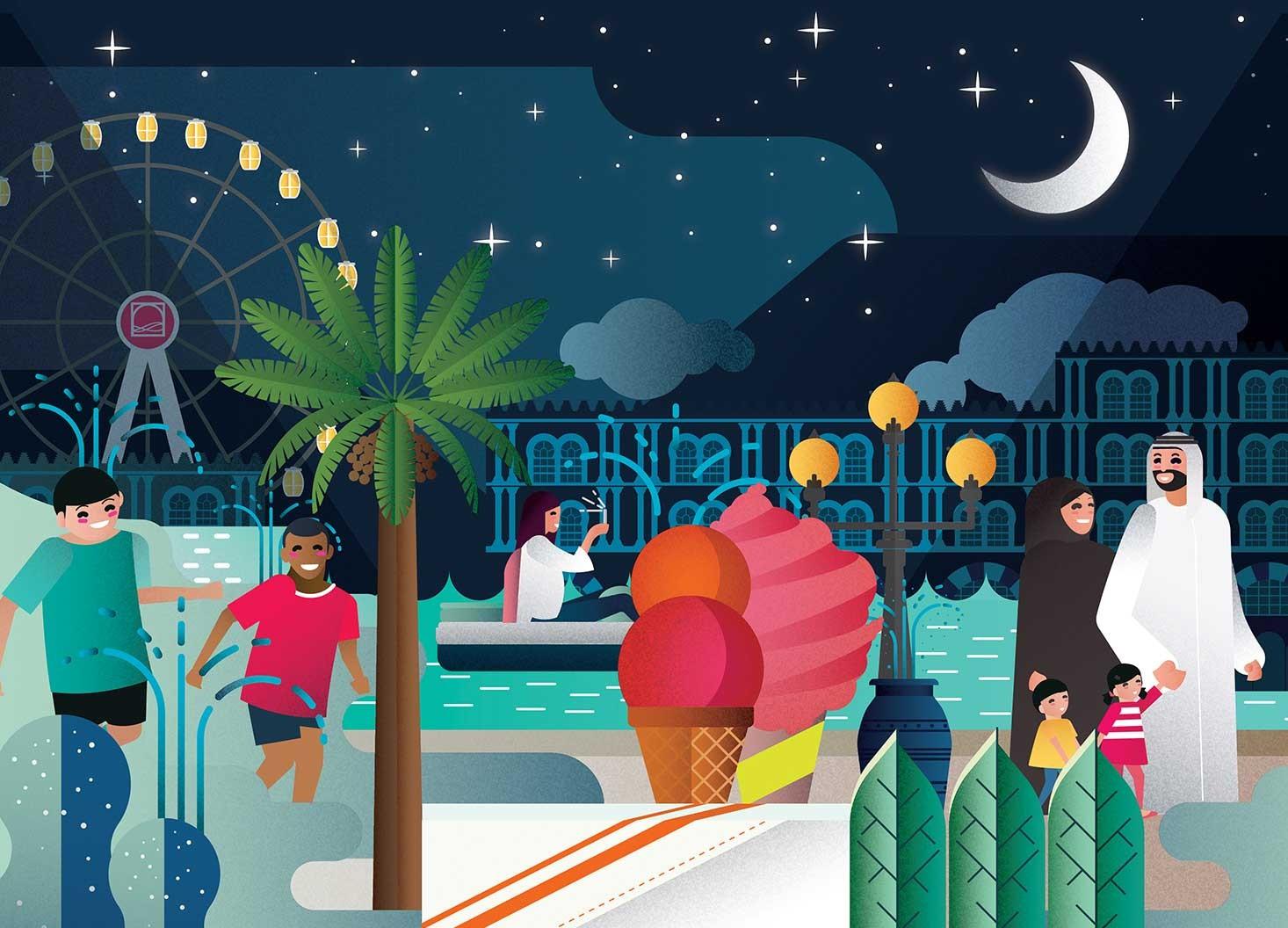 Al Qasba Parking Wrap - Hatch Design - Digital Creative Agency