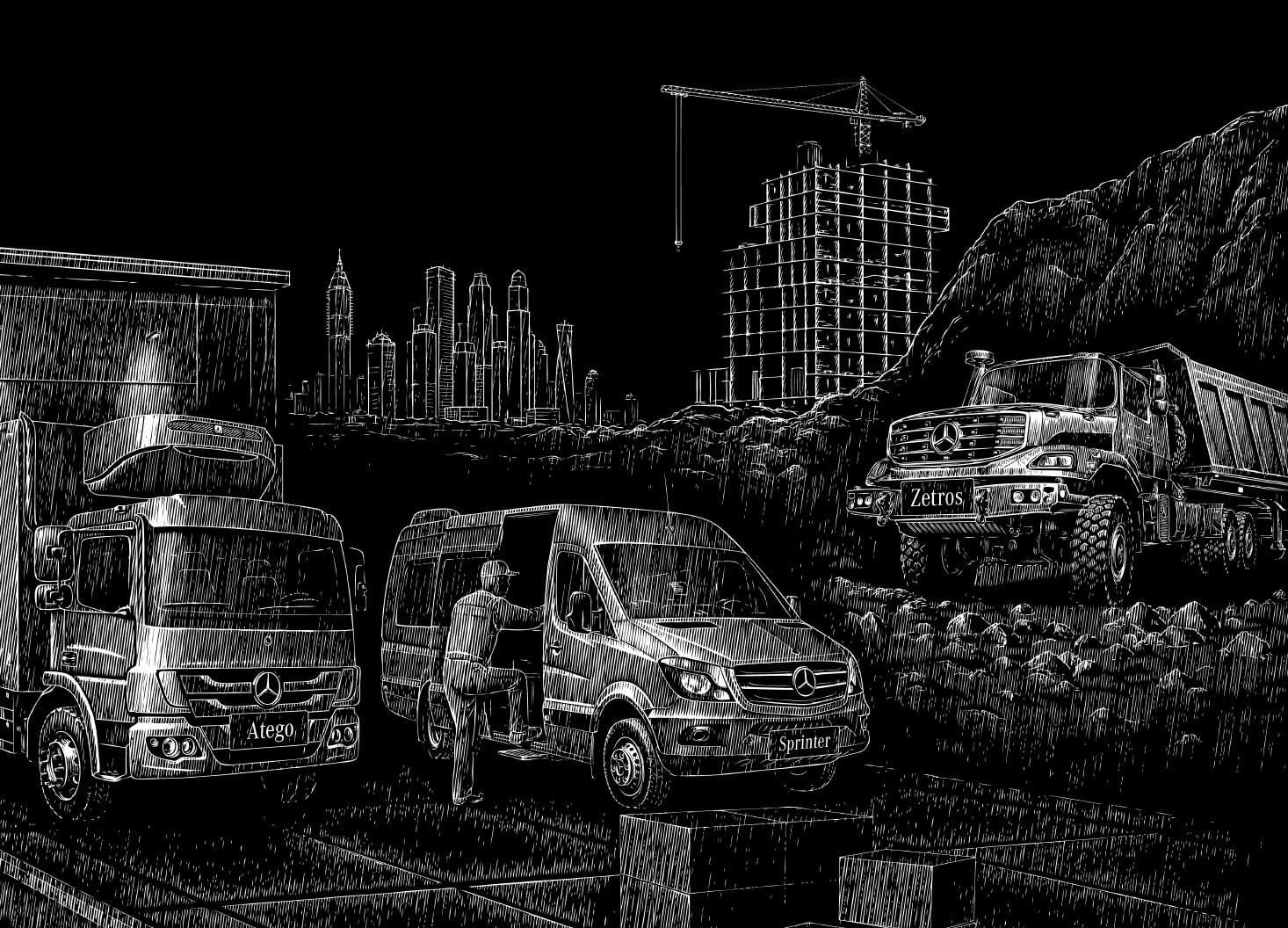 Mercedes-Benz Truck Range- Hatch Design - Digital Creative Agency